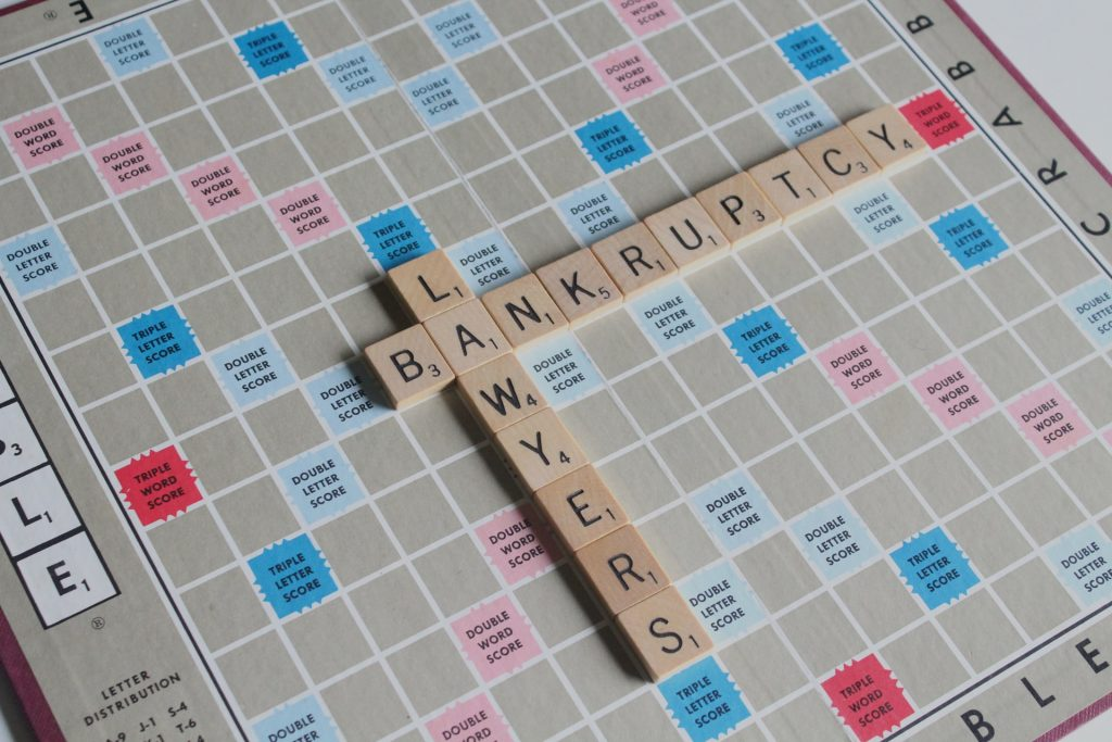 scrabble tiles - advantages to filing for bankruptcy